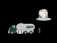5. Realizamos la descarga en el silo textil o de obra.